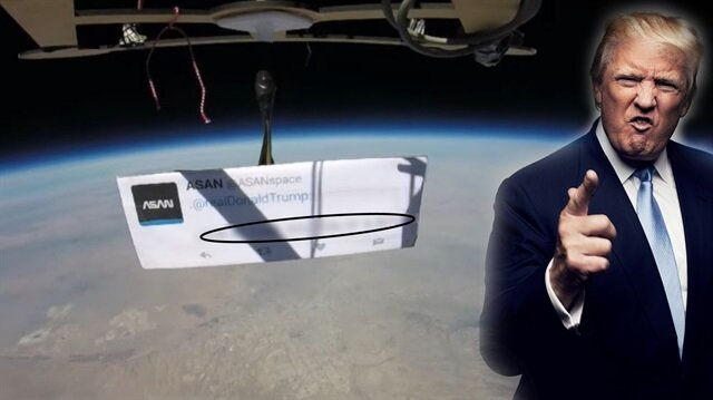 Donald Trump'a uzaydan küfür: 46 yıllık mesaj stratosferde geziyor