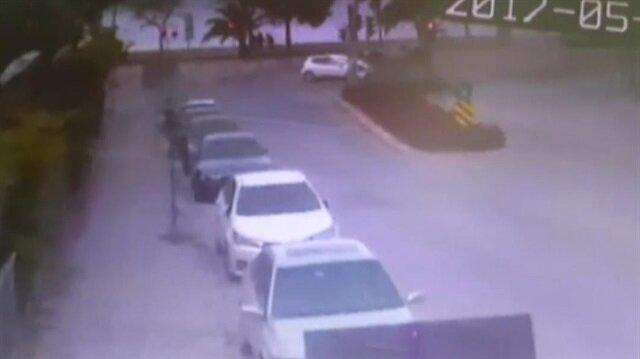 Kartal'daki kaza güvenlik kamerasında