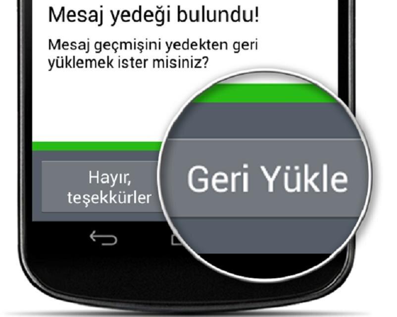 Android'de eski WhatsApp sohbetlerine tekrar ulaşabilmek için uygulamayı silip kaldırdıktan sonra tekrar kurmak ve