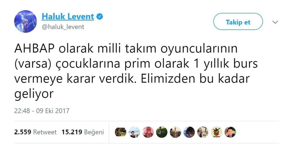Haluk Levent, söz konusu gelişmeyi sosyal medya hesabından böyle duyurdu.