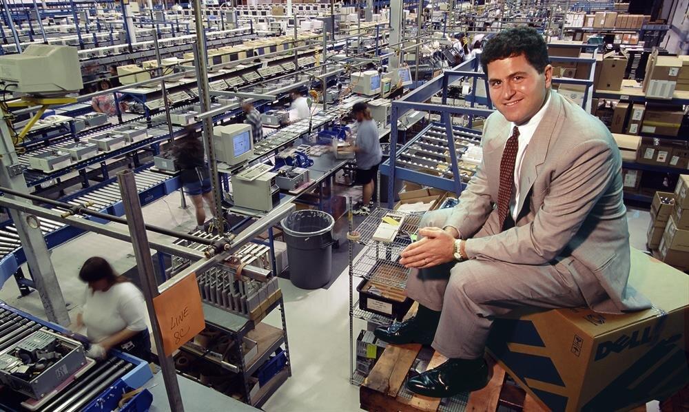 Dell Computer'in üretim kısmından oldukça farklı bir fotoğraf.