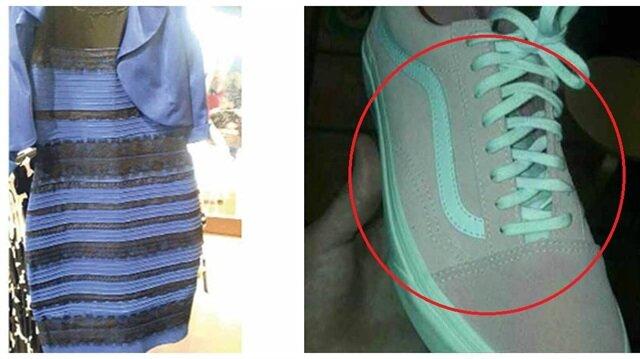 Spor ayakkabının rengi sosyal medyayı karıştırdı! Sizce ne renk?