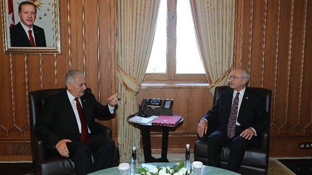 Başbakan Yıldırım, Kılıçdaroğlu görüşmesi bitti