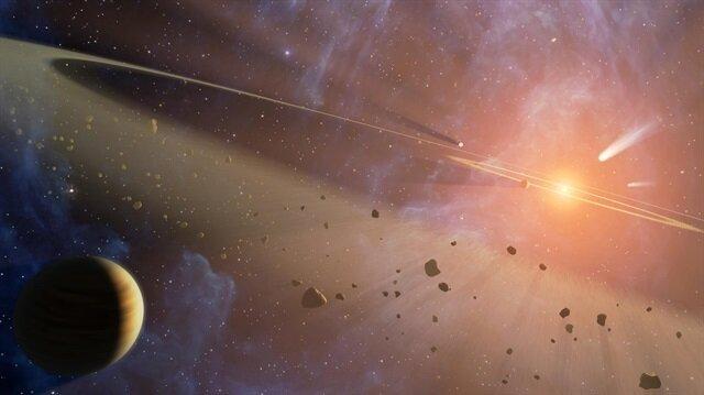 Yıldızların çarpışarak oluşturduğu patlamada altın ayrıntısı dikkat çekiyor