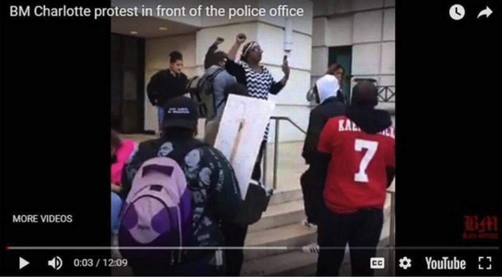 Charlotte fake protesto