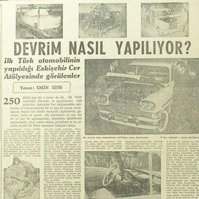 Hürriyet gazetesinde Devrim'le ilgili çıkan haberlere bir örnek