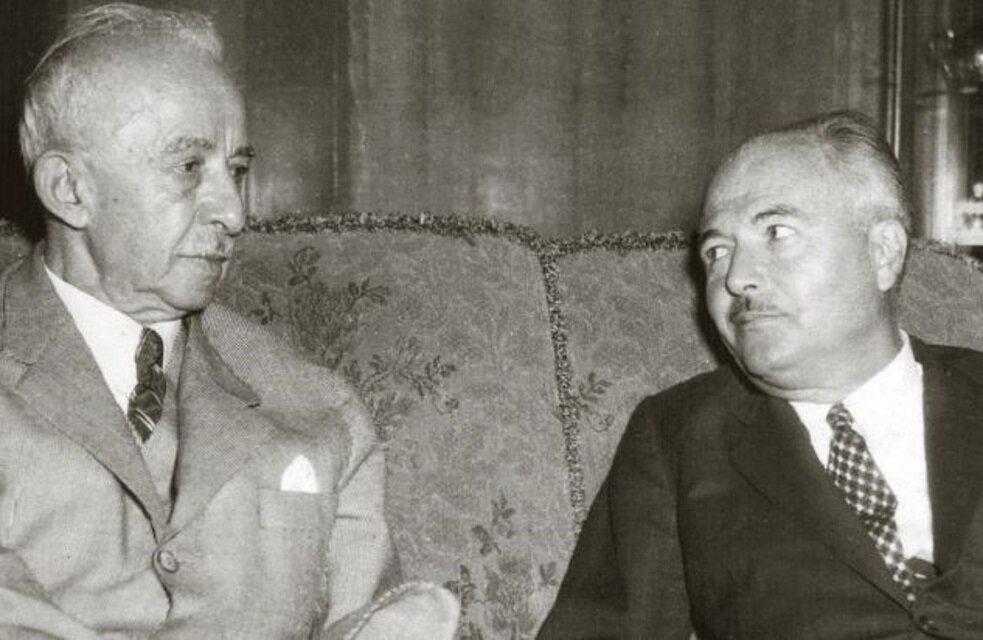 İsmet İnönü(solda)-Fevzi Lütfi Karaosmanoğlu