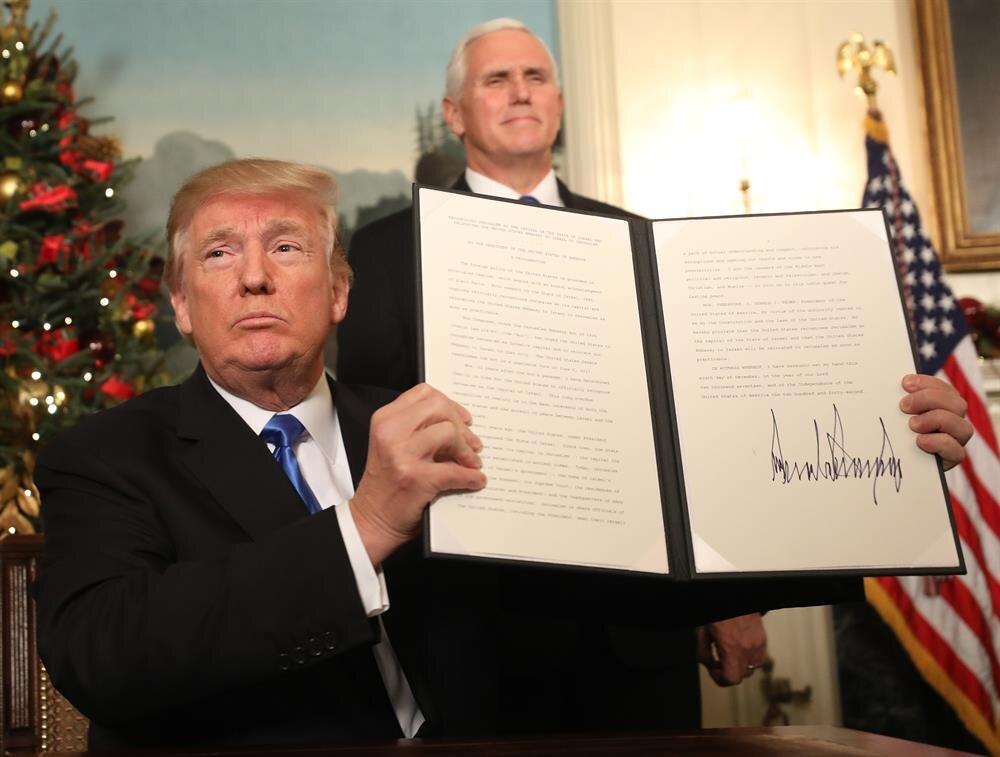 ABD Başkanı Donald Trump, ABD'nin Kudüs'le ilgili yeni yaklaşımını açıklayarak,