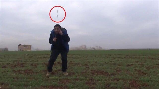 Bombalardan kurtulan şanslı gazeteci!