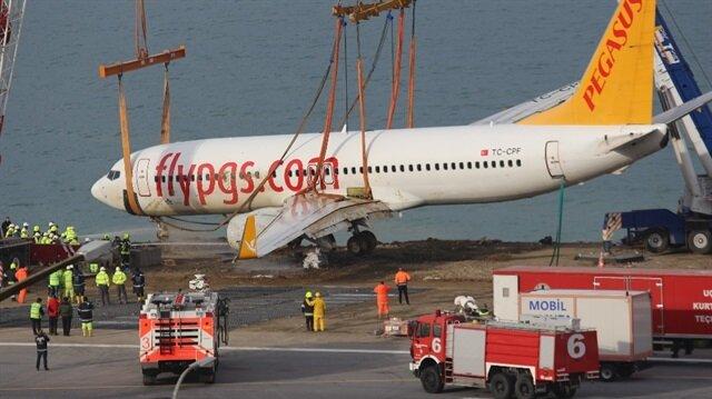 Uçağın pistten çıktığı kazada yolculara ödeme gerçekleştirildi