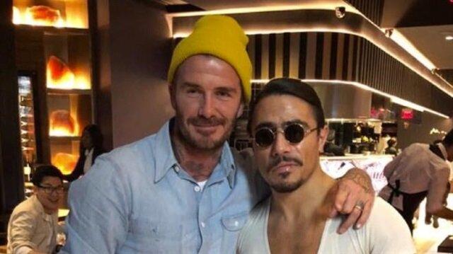 Nusret'ten David Beckham'a özel et servisi