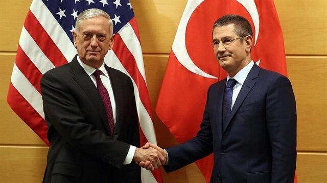 Milli Savunma Bakanı Canikli ile ABD'li mevkidaşı Mattis bir araya geldi