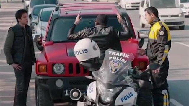 Çukur'dan Trafik Polisine yönelik yapılan aşağılama sahnesi tepki çekti