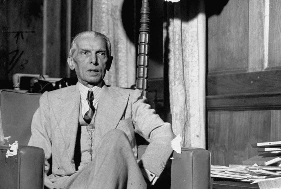 Bağımsız Pakistan'ın kurucusu olarak görülen ve bu sebeple ''Kaid-i Azam'' olarak anılan Muhammed Cinnah.
