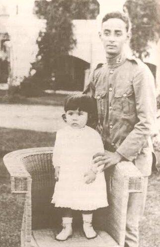 Dato Onn Jaafar, kızı Saliha ile...