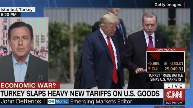 CNN: Türkiye ile ticaret savaşı ABD borsalarını batırdı