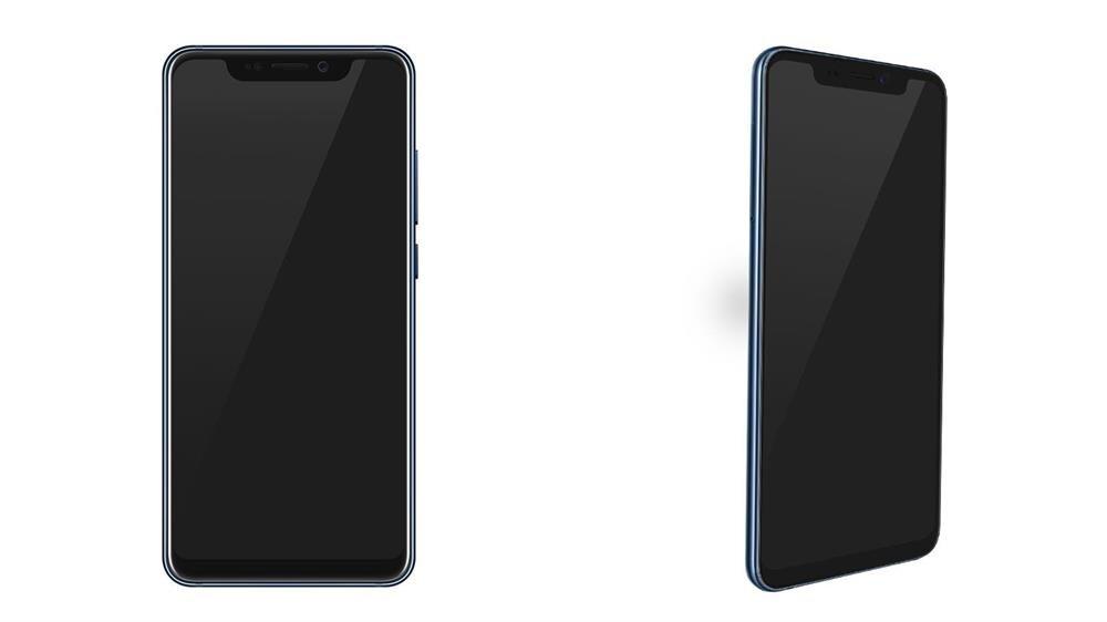 ZTE Axon 9 Pro'nun ekran ve ön kamera tasarımı.