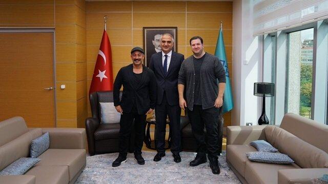 Kültür ve Turizm Bakanı Mehmet Ersoy, Cem Yılmaz ve Şahan Gökbakar ile görüştü