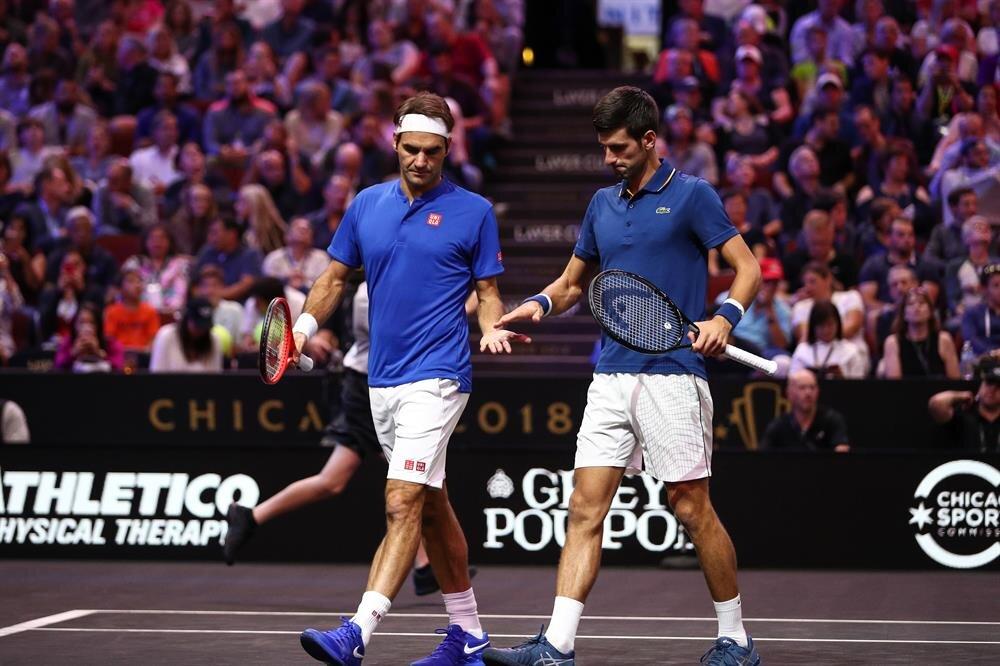 Federer ve Djokovic aynı takımda ilk defa yer aldı.