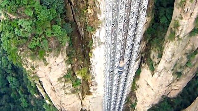 Dünyanın en yüksek açık hava asansörü