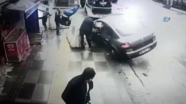 Başkent'te dehşete düşüren kaza kamerada