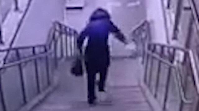 FAIL videolarda bugün: Merdivende dengesini kaybedip yirmağa gitti