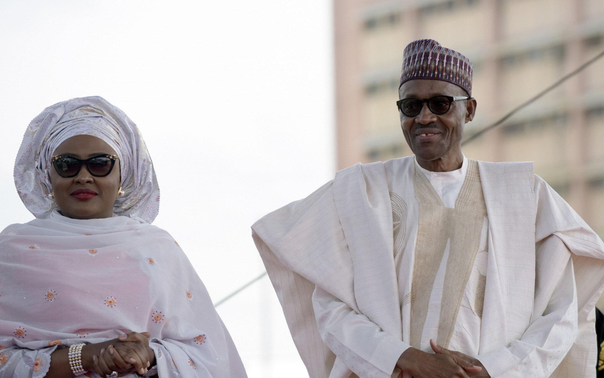 Muhammadu Buhari ve eşi Âişe Buhari.