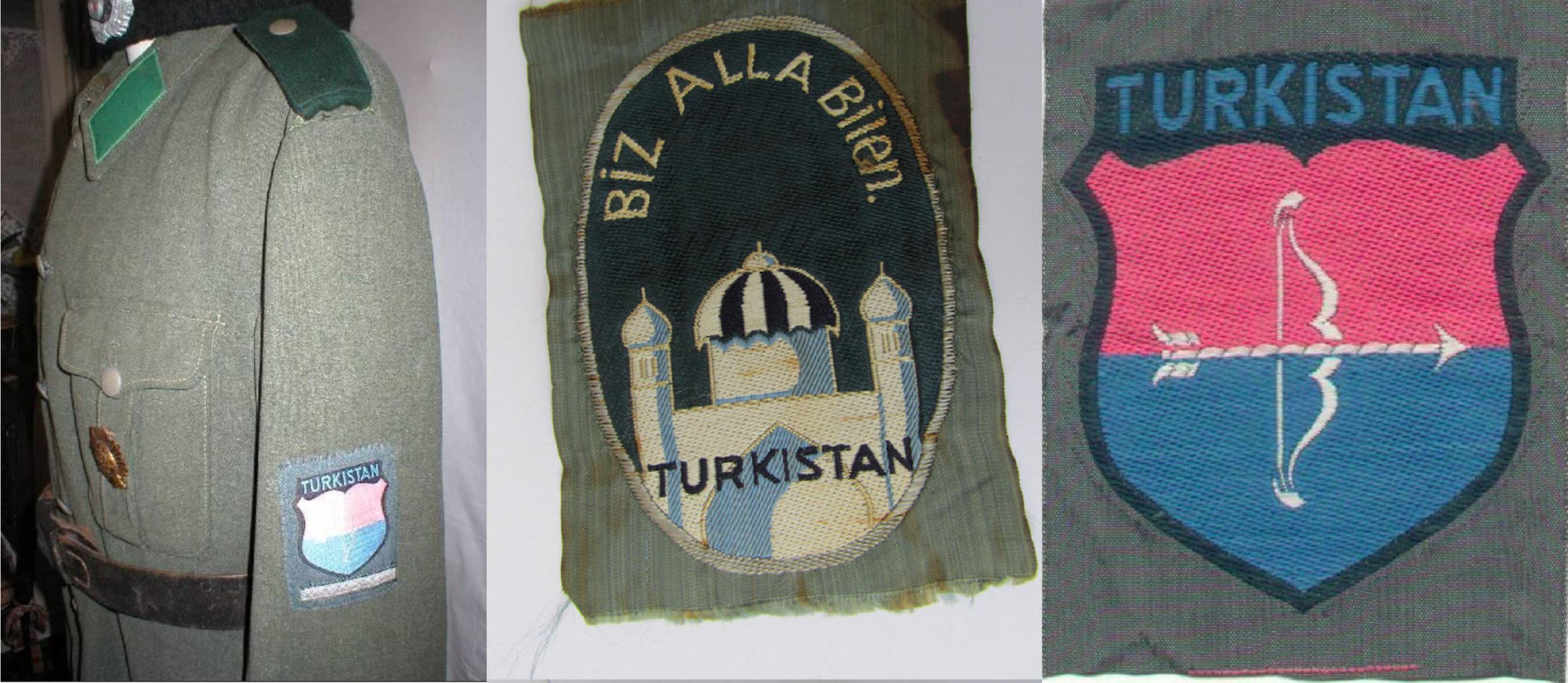 Türkistan Lejyonu üniforma ve üniforma kol şeritleri.