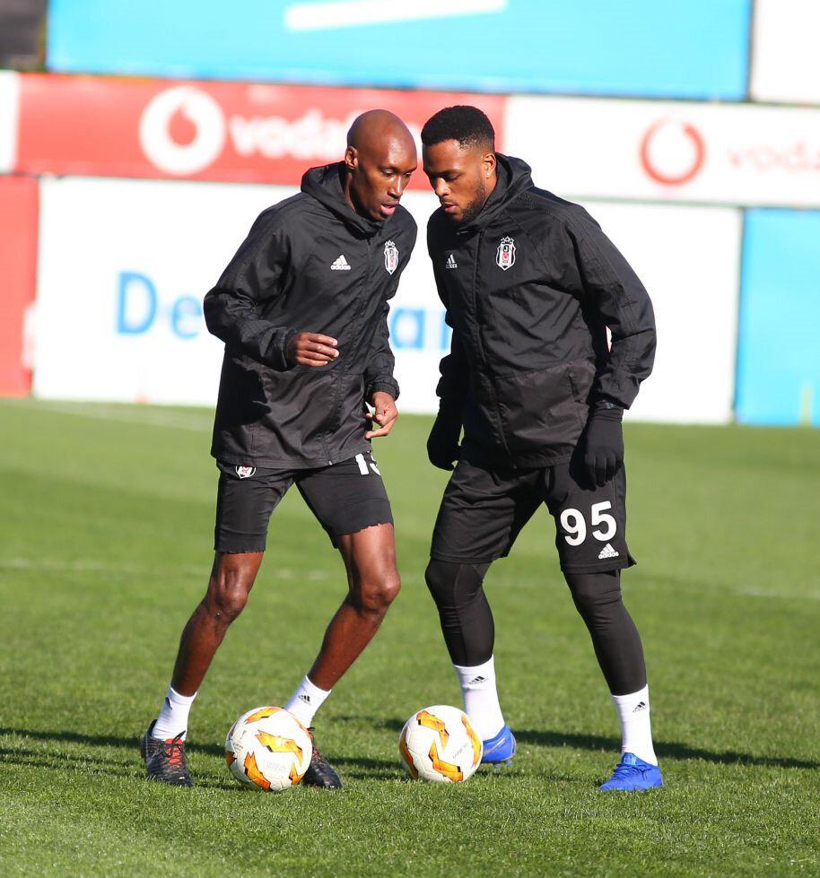 Larin ve Atiba antrenmanda topla birlikte çalışma yaparken...