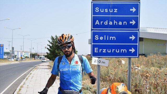 Farkındalık oluşturmak için bisikletiyle yollara düştü: 2160 kilometre pedal çevirecek