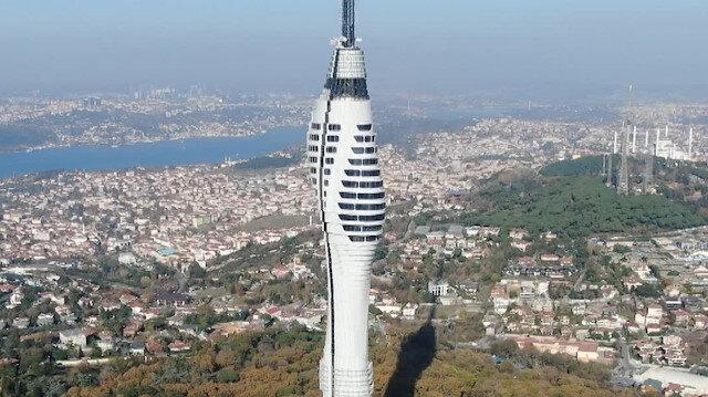 Çamlıca Kulesi'nin kaplama işlemleri tamamlandı