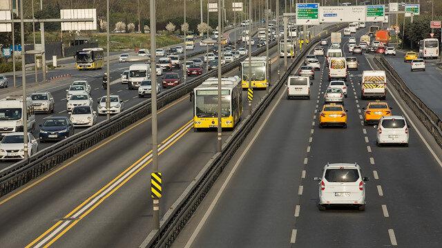 Sokağa çıkma yasağının ardından trafik yoğunluğu yüzde 13 oldu