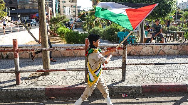 """İsrail'in """"ilhak planı"""" Gazze'de protesto edildi"""
