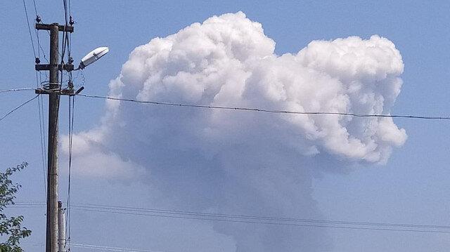 Sakarya'da havai fişek fabrikasındaki patlamadan görüntüler