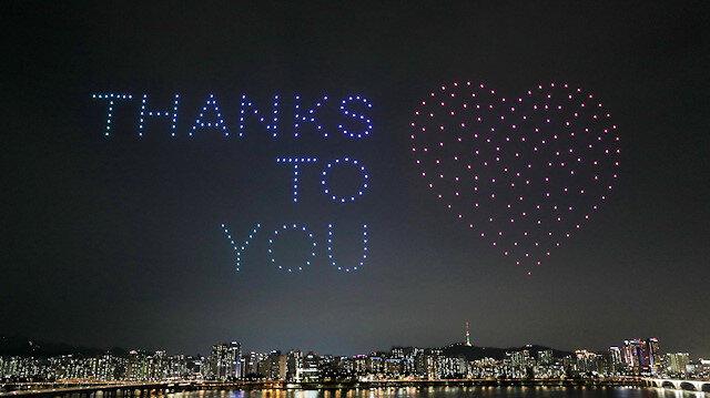 Kore'de yüzlerce drone ile muhteşem gösteri