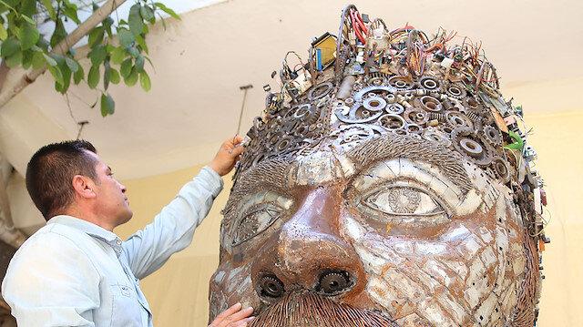 Atık metallerin en sanatsal hali: İnsan portresi 🗿