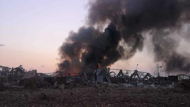 Lübnan'daki patlamadan sonra çekilen ilk görüntüler