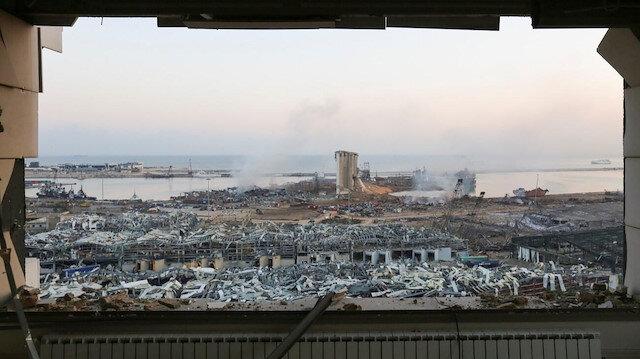 Beyrut'taki patlama sonrası ilk görüntüler