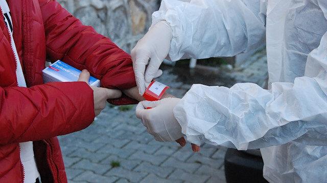 Bartın'da koronavirüs hastalarına barkodlu bileklik takıldı