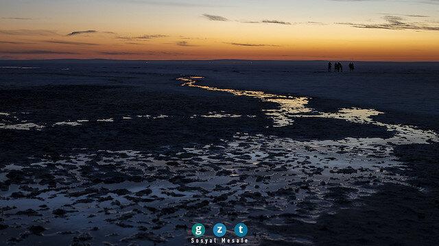 Tuz Gölü'nde gün batımı 🌄