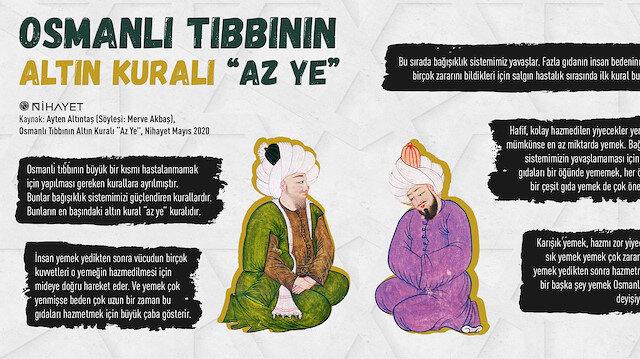 """Osmanlı tıbbının altın kuralı: """"Az ye"""""""