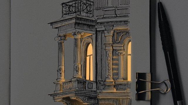 Mimari eskizler dijital sanatla buluşuyor