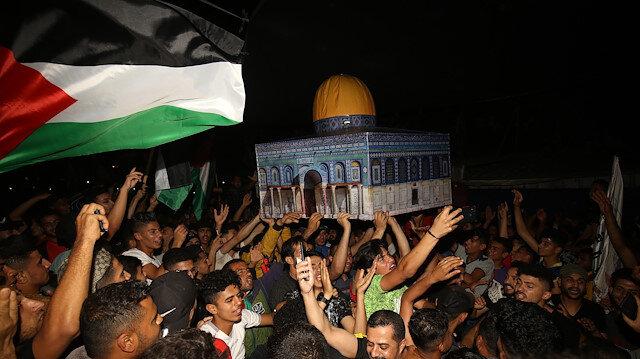 📸Batı Şeria ve Gazze'deki 'ateşkes' sevinci