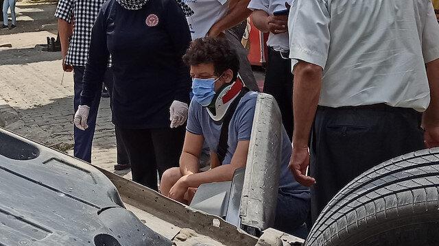 Ünlü oyuncu İlker Aksum ölümden döndü: Otomobili hurdaya döndü