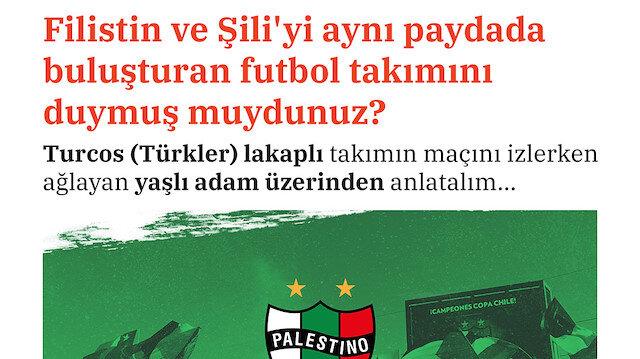 Filistin ve Şili'yi aynı paydada buluşturan futbol takımı