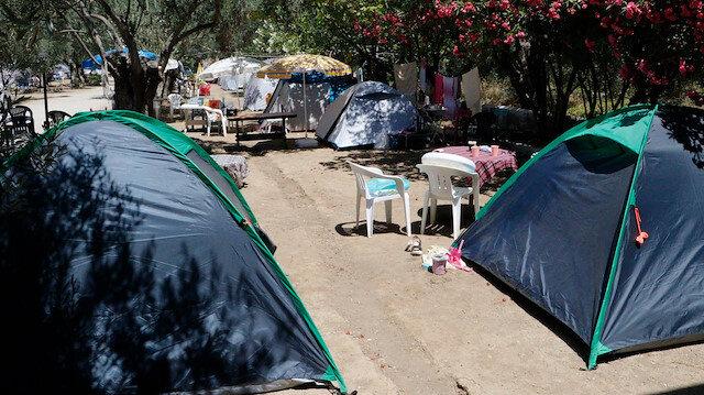 Çadır kuracak yer kalmadı: Ekonomik tatil arayanlar kampları doldurdu