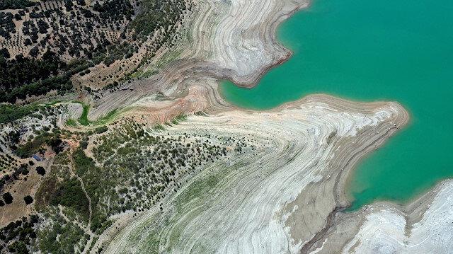 Doğal güzelliğiyle biliniyordu: Kuraklık nedeniyle sular çekildi