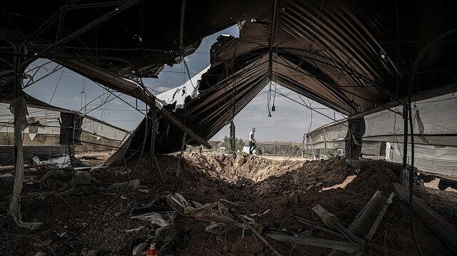 İsrail, Gazze'de çeşitli noktalara hava saldırısı düzenledi