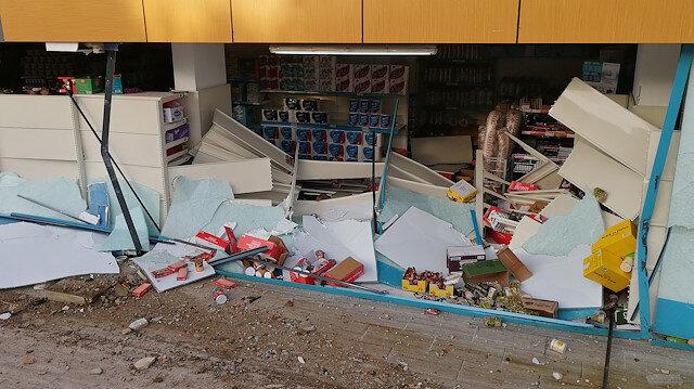 İstanbul'da direksiyon hakimiyetini kaybeden sürücü markete girdi