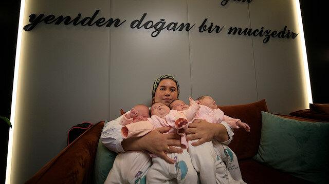 Hamileyken COVID-19'u yendi, dördüzler dünyaya geldi